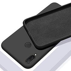 Xiaomi Redmi Note 7用360度 フルカバー極薄ソフトケース シリコンケース 耐衝撃 全面保護 バンパー S01 Xiaomi ブラック