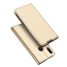 Xiaomi Redmi Note 7 Pro用手帳型 レザーケース スタンド カバー Xiaomi ゴールド