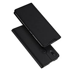 Xiaomi Redmi Note 7 Pro用手帳型 レザーケース スタンド カバー Xiaomi ブラック
