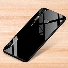 Xiaomi Redmi Note 7 Pro用ハイブリットバンパーケース プラスチック 鏡面 虹 グラデーション 勾配色 カバー Xiaomi ブラック