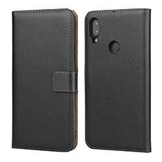 Xiaomi Redmi Note 7 Pro用手帳型 レザーケース スタンド L04 Xiaomi ブラック