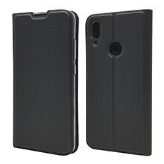 Xiaomi Redmi Note 7 Pro用手帳型 レザーケース スタンド カバー L06 Xiaomi ブラック