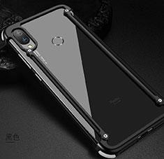 Xiaomi Redmi Note 7 Pro用ケース 高級感 手触り良い アルミメタル 製の金属製 バンパー カバー Xiaomi ブラック