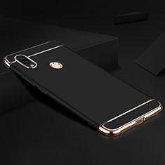 Xiaomi Redmi Note 7 Pro用ケース 高級感 手触り良い メタル兼プラスチック バンパー M01 Xiaomi ブラック