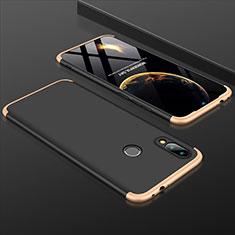 Xiaomi Redmi Note 7 Pro用ハードケース プラスチック 質感もマット 前面と背面 360度 フルカバー Xiaomi ゴールド・ブラック