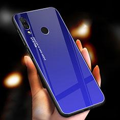 Xiaomi Redmi Note 7 Pro用ハイブリットバンパーケース プラスチック 鏡面 虹 グラデーション 勾配色 カバー M01 Xiaomi ネイビー