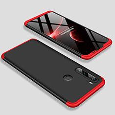 Xiaomi Redmi Note 8用ハードケース プラスチック 質感もマット 前面と背面 360度 フルカバー M01 Xiaomi レッド・ブラック