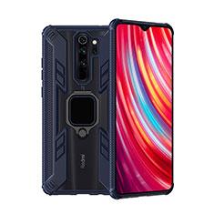 Xiaomi Redmi Note 8 Pro用ハイブリットバンパーケース プラスチック アンド指輪 マグネット式 R09 Xiaomi ネイビー