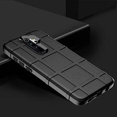 Xiaomi Redmi Note 8 Pro用360度 フルカバー極薄ソフトケース シリコンケース 耐衝撃 全面保護 バンパー Xiaomi ブラック