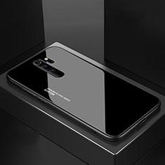 Xiaomi Redmi Note 8 Pro用ハイブリットバンパーケース プラスチック 鏡面 カバー M02 Xiaomi ブラック