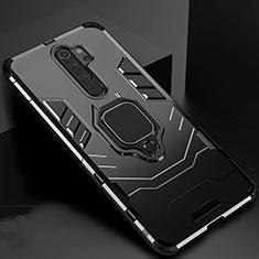 Xiaomi Redmi Note 8 Pro用ハイブリットバンパーケース スタンド プラスチック 兼シリコーン カバー マグネット式 Xiaomi ブラック