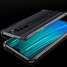 Xiaomi Redmi Note 8 Pro用極薄ソフトケース シリコンケース 耐衝撃 全面保護 クリア透明 H02 Xiaomi ブラック