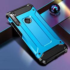 Xiaomi Redmi Note 8T用ハイブリットバンパーケース プラスチック 兼シリコーン カバー Xiaomi ネイビー