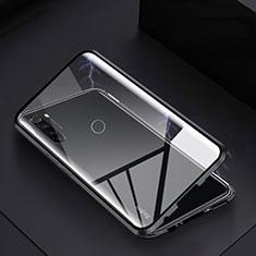 Xiaomi Redmi Note 8T用ケース 高級感 手触り良い アルミメタル 製の金属製 360度 フルカバーバンパー 鏡面 カバー M01 Xiaomi ブラック