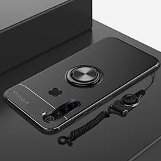 Xiaomi Redmi Note 8T用極薄ソフトケース シリコンケース 耐衝撃 全面保護 アンド指輪 マグネット式 バンパー Xiaomi ブラック