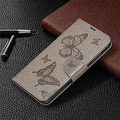 Xiaomi Redmi Note 9用手帳型 レザーケース スタンド カバー T04 Xiaomi グレー