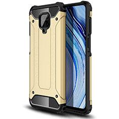 Xiaomi Redmi Note 9 Pro用ハイブリットバンパーケース プラスチック 兼シリコーン カバー Xiaomi ゴールド