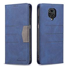 Xiaomi Redmi Note 9 Pro用手帳型 レザーケース スタンド 鏡面 カバー L02 Xiaomi ネイビー