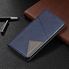 Xiaomi Redmi Note 9 Pro用手帳型 レザーケース スタンド カバー T02 Xiaomi ネイビー