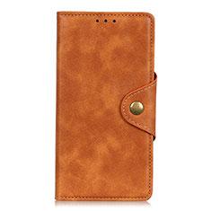 Xiaomi Redmi Note 9 Pro Max用手帳型 レザーケース スタンド カバー L02 Xiaomi オレンジ