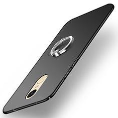 Xiaomi Redmi Pro用ハードケース プラスチック 質感もマット アンド指輪 A02 Xiaomi ブラック