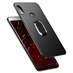 Xiaomi Redmi S2用極薄ソフトケース シリコンケース 耐衝撃 全面保護 アンド指輪 Xiaomi ブラック