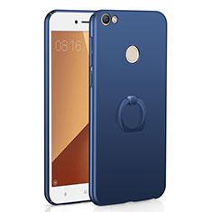 Xiaomi Redmi Y1用ハードケース プラスチック 質感もマット アンド指輪 A01 Xiaomi ネイビー