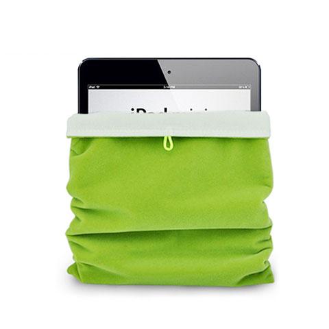 Apple iPad 4用ソフトベルベットポーチバッグ ケース アップル グリーン