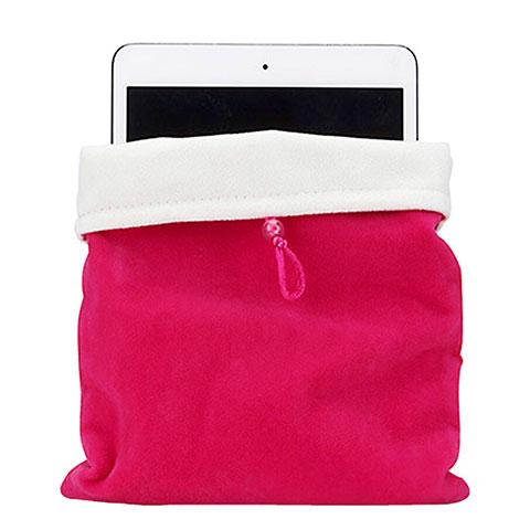 Apple iPad Mini 3用ソフトベルベットポーチバッグ ケース アップル ローズレッド