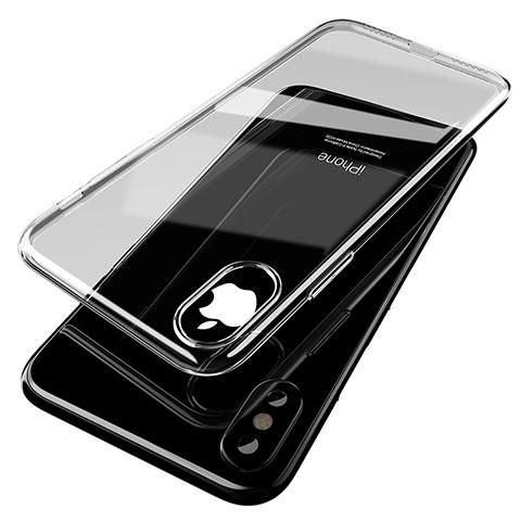 Apple iPhone Xs Max用極薄ソフトケース シリコンケース 耐衝撃 全面保護 クリア透明 T14 アップル クリア