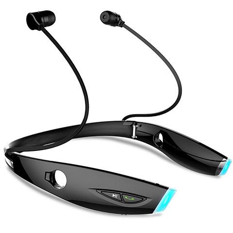 Bluetoothイヤホンワイヤレス ヘッドホン ステレオ H52 ブラック