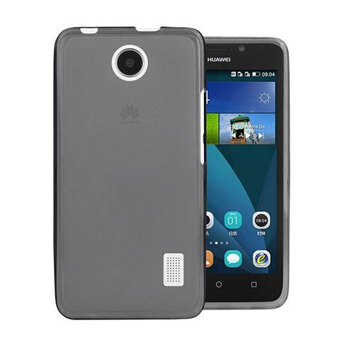 Huawei Ascend Y635 Dual SIM用極薄ソフトケース シリコンケース 耐衝撃 全面保護 クリア透明 ファーウェイ グレー