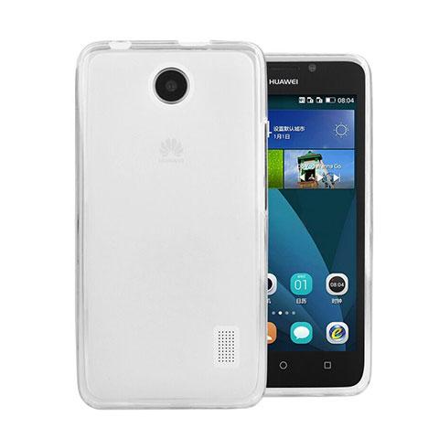 Huawei Ascend Y635 Dual SIM用極薄ソフトケース シリコンケース 耐衝撃 全面保護 クリア透明 ファーウェイ ホワイト