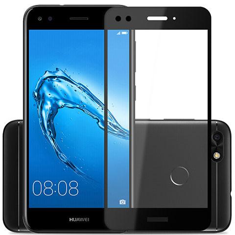 Huawei Enjoy 7用強化ガラス フル液晶保護フィルム ファーウェイ ブラック