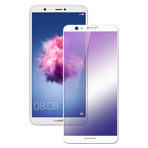 Huawei Enjoy 7S用強化ガラス フル液晶保護フィルム F02 ファーウェイ ホワイト