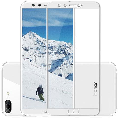 Huawei Honor 9 Lite用強化ガラス フル液晶保護フィルム F02 ファーウェイ ホワイト