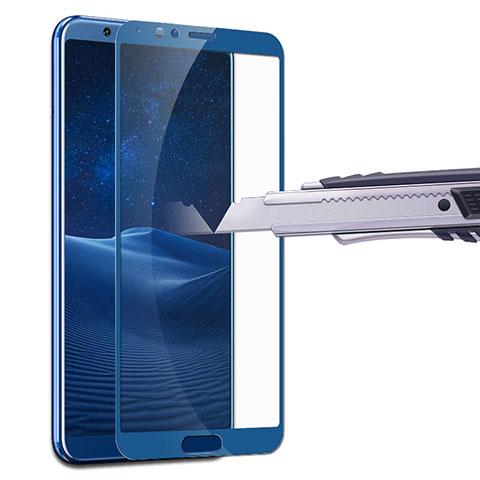 Huawei Honor V10用強化ガラス フル液晶保護フィルム F07 ファーウェイ ネイビー