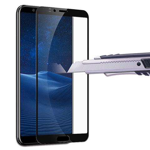 Huawei Honor View 10用強化ガラス フル液晶保護フィルム F07 ファーウェイ ブラック