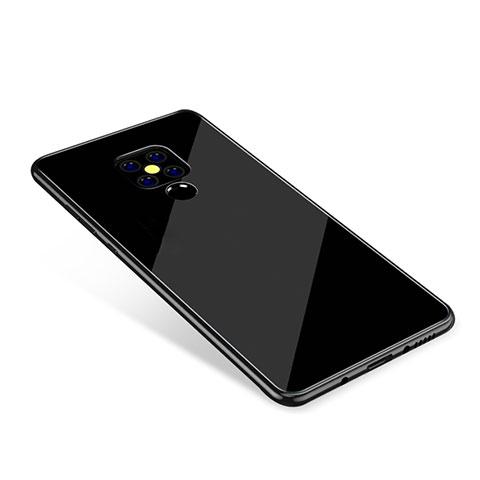 Huawei Mate 20用ハイブリットバンパーケース プラスチック 鏡面 虹 グラデーション 勾配色 カバー ファーウェイ ブラック