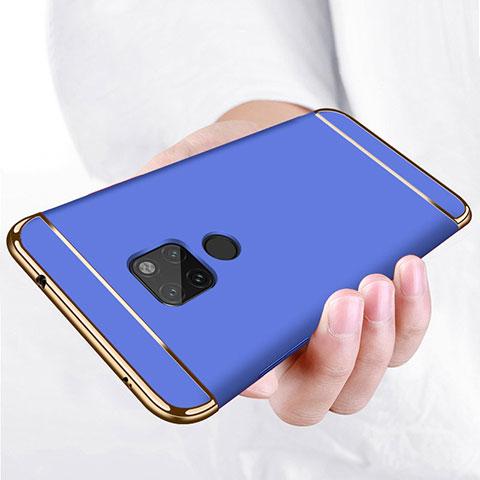 Huawei Mate 20用ケース 高級感 手触り良い メタル兼プラスチック バンパー ファーウェイ ネイビー