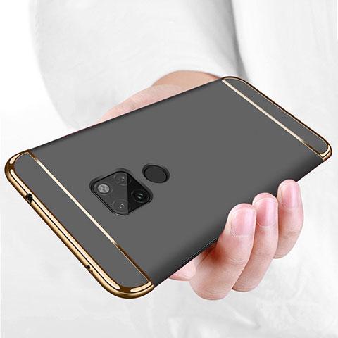 Huawei Mate 20用ケース 高級感 手触り良い メタル兼プラスチック バンパー ファーウェイ ブラック