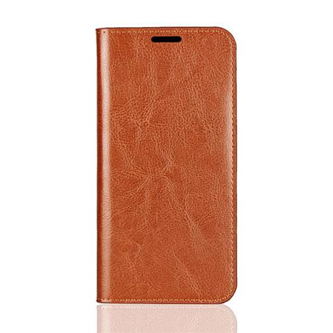 Huawei Mate 20 Lite用手帳型 レザーケース スタンド カバー L05 ファーウェイ オレンジ