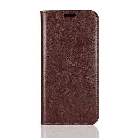 Huawei Mate 20 Lite用手帳型 レザーケース スタンド カバー L05 ファーウェイ ブラウン