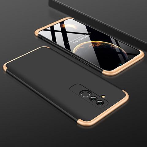 Huawei Mate 20 Lite用ハードケース プラスチック 質感もマット 前面と背面 360度 フルカバー ファーウェイ ゴールド・ブラック