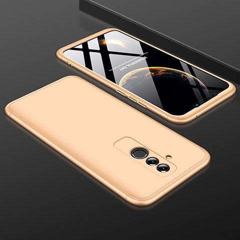 Huawei Mate 20 Lite用ハードケース プラスチック 質感もマット 前面と背面 360度 フルカバー ファーウェイ ゴールド