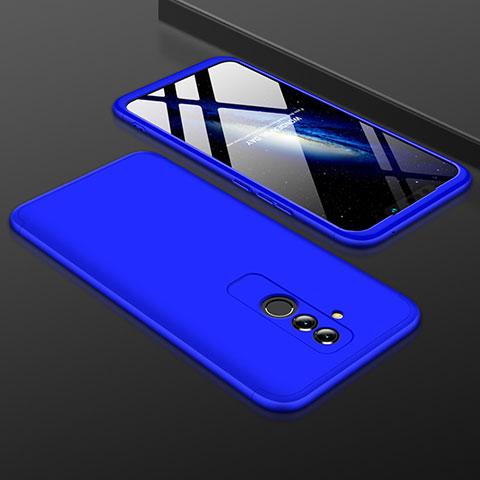 Huawei Mate 20 Lite用ハードケース プラスチック 質感もマット 前面と背面 360度 フルカバー ファーウェイ ネイビー