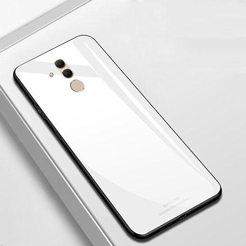 Huawei Mate 20 Lite用ハイブリットバンパーケース プラスチック 鏡面 カバー M01 ファーウェイ ホワイト
