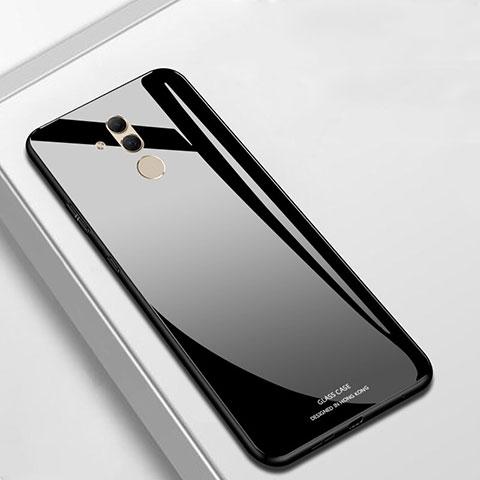Huawei Mate 20 Lite用ハイブリットバンパーケース プラスチック 鏡面 カバー M01 ファーウェイ ブラック
