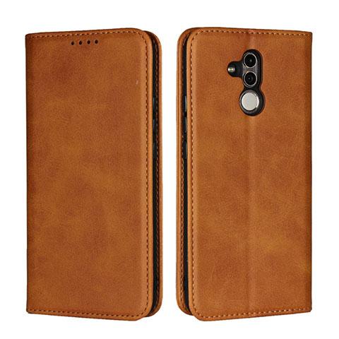Huawei Mate 20 Lite用手帳型 レザーケース スタンド カバー L06 ファーウェイ オレンジ
