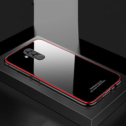 Huawei Mate 20 Lite用ケース 高級感 手触り良い アルミメタル 製の金属製 バンパー 鏡面 カバー M02 ファーウェイ レッド
